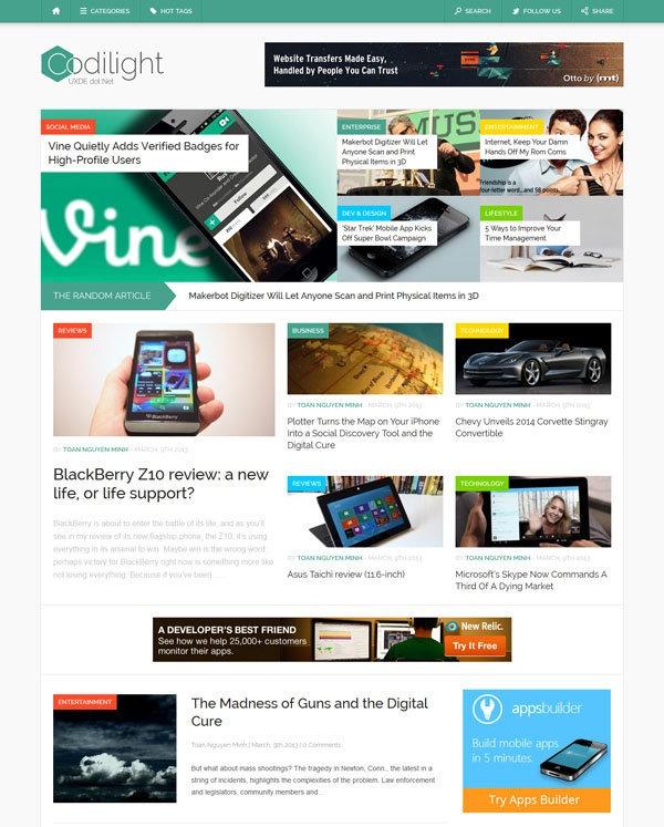 Mejores 11 imágenes de Best Wordpress Magazine Themes en Pinterest ...
