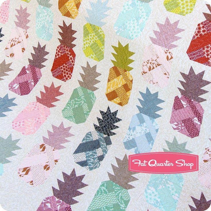 Pineapple Farm Quilt Kit Featuring Pond by Elizabeth Hartman | Fat Quarter Shop