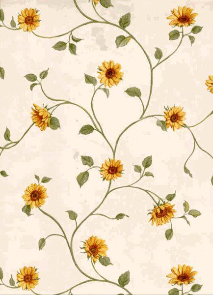 vintage sunflower wallpaper - Google Search