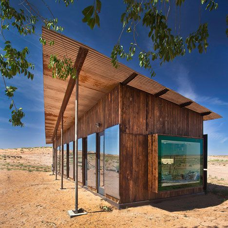 A house in the Utah desert for an impoverished Navajo woman by architecture students from the University of Colorado.