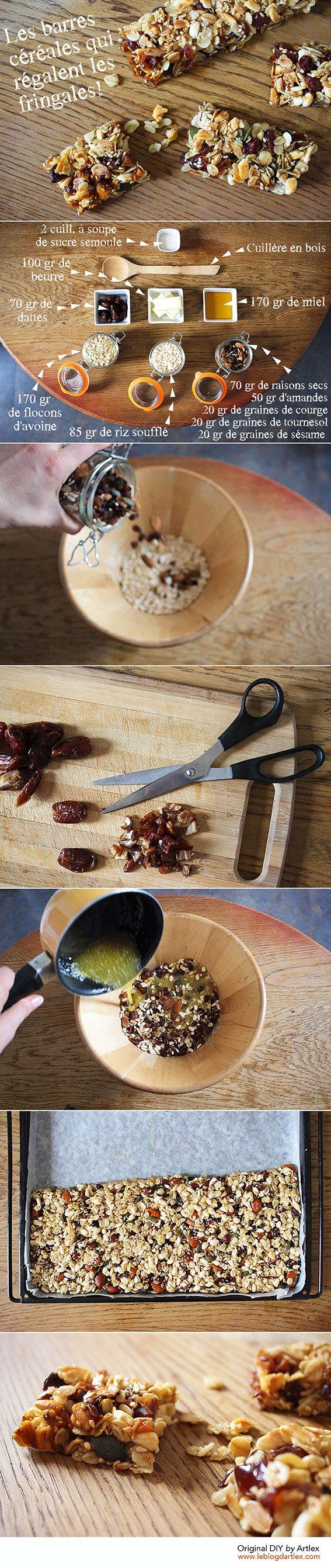 Cereal bars DIY // Healthy snacks DIY// DIY barres céréales // DIY snacks // Blog mode et DIY Artlex
