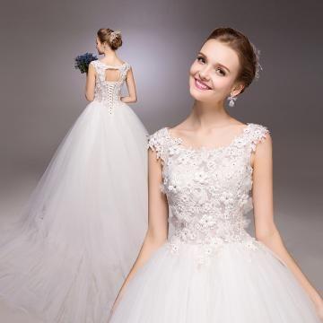 Prinsesse Chic & Moderne Naturlig Billige brudekjoler