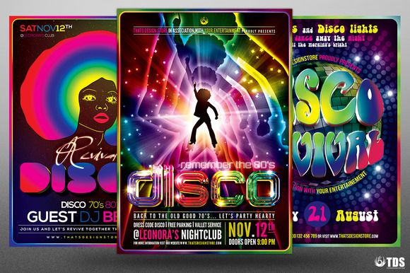 Disco Music Flyer Bundle V2 by Thats Design Store on @creativemarket