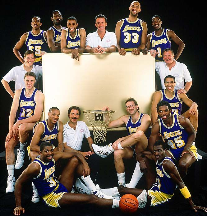 1988 Back-to-Back NBA World Champion Los Angeles Lakers.