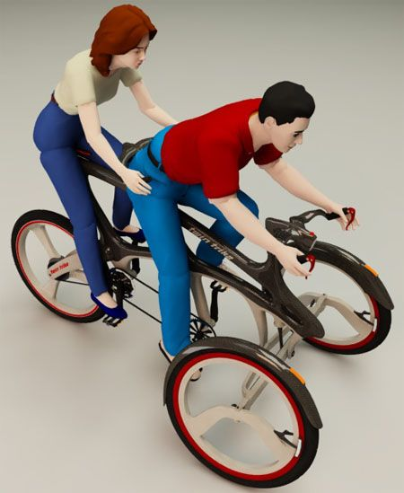 Twin Trike, bike, tricycle concept