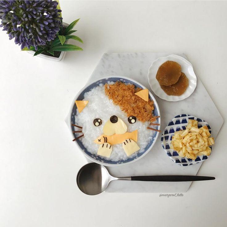 Kitty cat breakfast porridge by Margaret TatTa (@margaret_tatta)