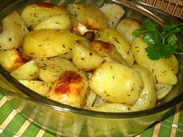 Вкусные рецепты: Картофель, запеченный с тимьяном