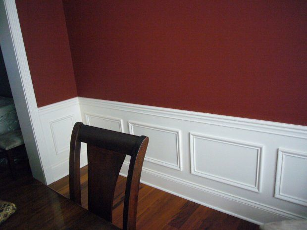paintingwall2colors painting walls two colors as split by a dining room - Dining Room Paint Colors With Chair Rail