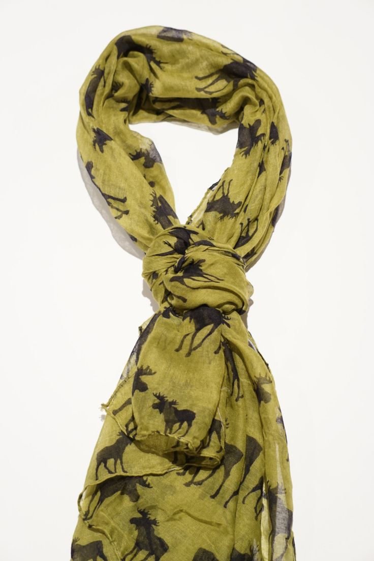 Womens moose scarves - green and beige in colour. by sleepcouture on Etsy