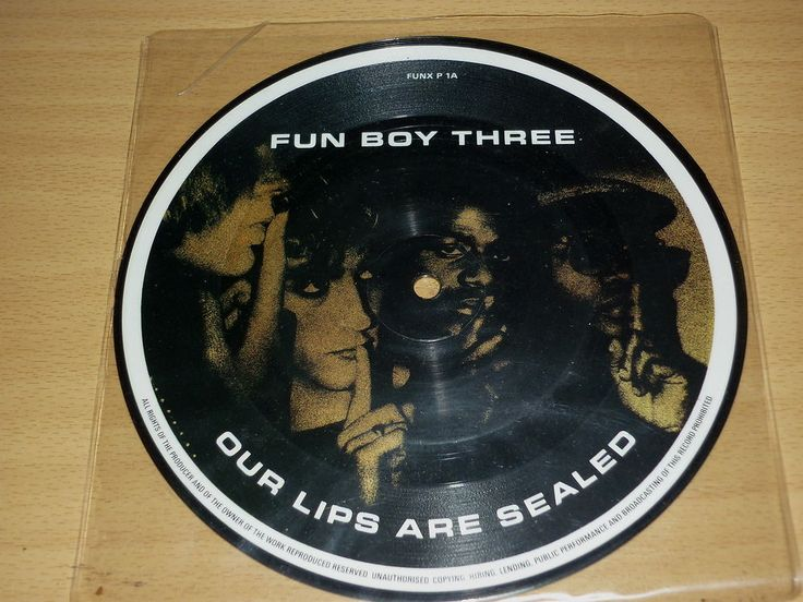 FUN BOY THREE - Our Lips Are Sealed - UK 7  PICTURE DISC