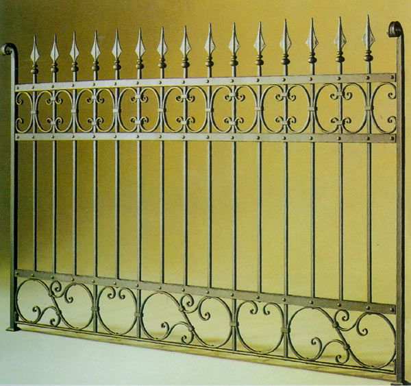 Wrought Iron Fence - something like this around our back yard.
