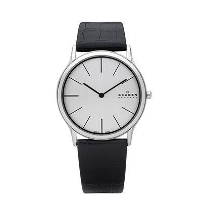 skagen super slim: 858Xlslc, Mens, Super Slim, Men'S, Leather, Skagen Watches, Men Watches