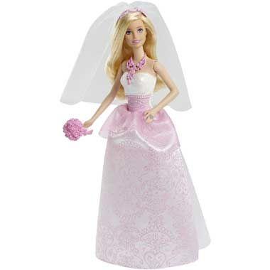 Barbie bruid  Meisjes doen niets liever dan beroemde bruiloften naspelen en hun eigen sprookjesverhalen bedenken met deze Barbiebruid.  EUR 19.99  Meer informatie
