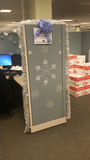 Winter Wonderland Cubicle Office Christmas Decorations