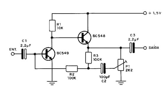 mini amplificador de 1 5v