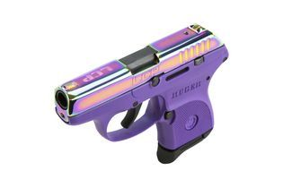 Ruger LCP Rainbow Slide Purple Grip Compact 380ACP Pistol