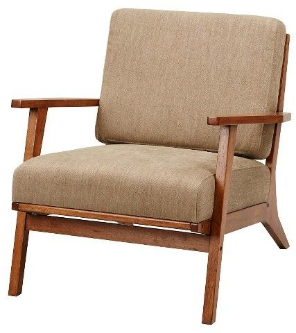 Dreux Exposed Wood Accent Chair - Mushroom