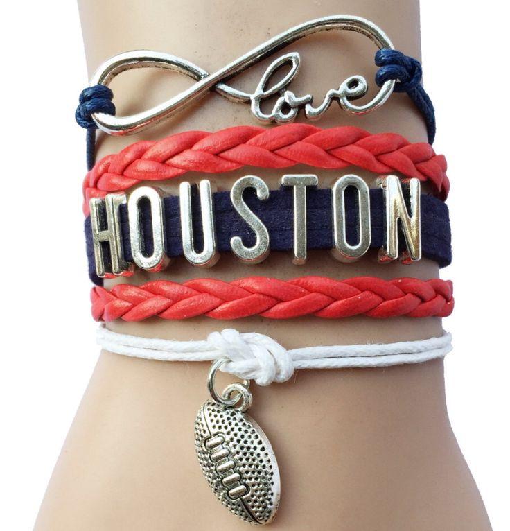 Houston Oilers football bracelet