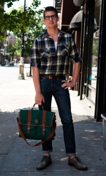 How to wear plaid and not look like a lumberjack.