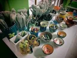 Clay Café  - It costs R30p/p for three colours of paint, firing and glazing, and the individual bisques to be painted range in price from R15 to R220 per item. The Clay Café is open every day from 9am to 5pm.