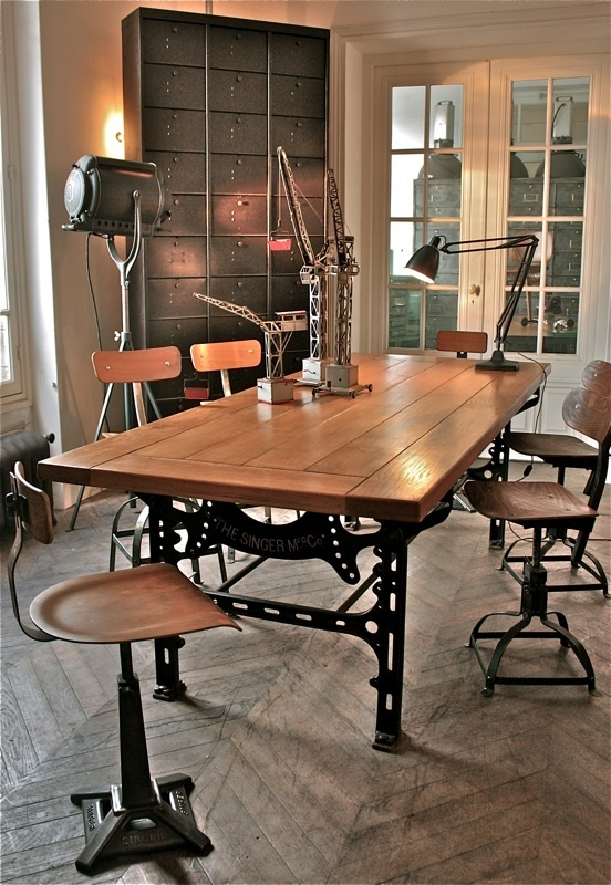 38 best mesa comedor images on pinterest dining rooms for Comedor industrial