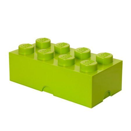 Lego Storage Brick 8 Lime Green, Multicolor