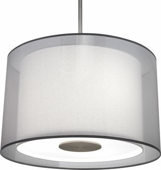 Robert Abbey (S2193) Saturnia Pendant shown in Stainless Steel