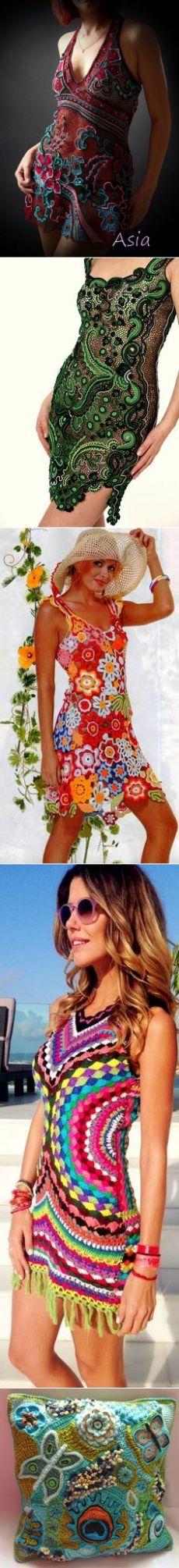 (68) Freeform dress by Asia. WOW   Irish lace   Вязание Крючком, Вязание Крючком В Произвольном Стиле и Ирландское Вязание