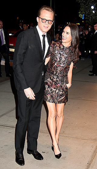 Paul Bettany and Jennifer Connelly only had eyes for each other arriving at the Avengers: Age of Ultron premiere in NYC April 28.