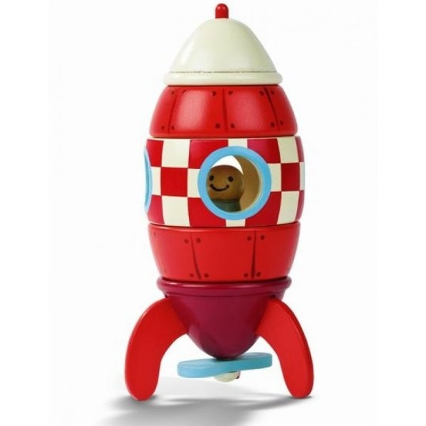 Janod Wooden Rocket - £16 at http://www.uptothemoon.com/product/magnetic-wooden-rocket/