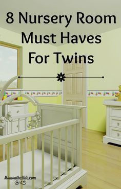 8 Must Haves for a Nursery Room for Twins that will make Twin Parenting easier! Raising Multiples can be a challenge but a great Twin Nursery Room can help!