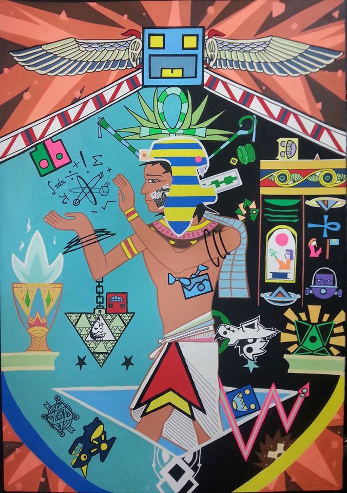 2. Zetonis 1  Geometry Dash + Egyptian murals  Recommended BGM  https://www.youtube.com/watch?v=zZ1L9JD6l0g&index=26&list=PLtNNLgYdlVKSBzAdzO7BvevDUfbdJIaaU