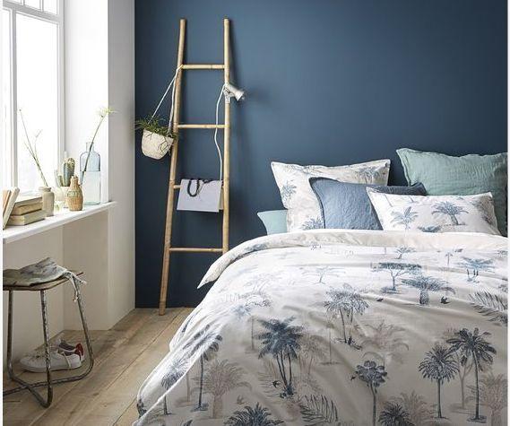 mur-bleu-chambre-la redoute-peindre-le-bon-mur- Le blog deco…