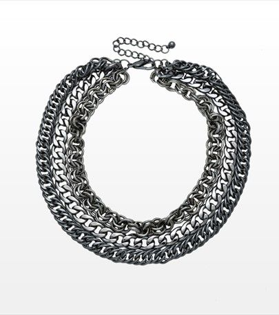 #DYNHOLIDAY Chain-y days! Make a fashion statement with this necklace featuring 3 chains.