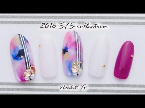 @pelikh_大好評!鈴木千穂先生による美しすぎるジェルネイルお花アートNAILIST TV - YouTube