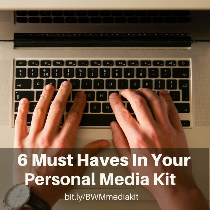 #Media kits are an easy way to tell the media who you are and what you do. Read the 6 must haves in your #personalbrand media kit, in our latest #blog:
