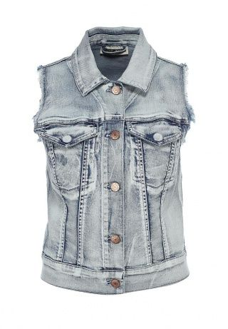 Стильный джинсовый жилет от Noisy May. Модель выполнена из плотного денима. Детали: два внешних кармана, планка на пуговицах, бахрома по краям. http://j.mp/1pg1csB