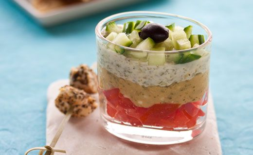 Epicure's Greek Layer Dips for Verrines