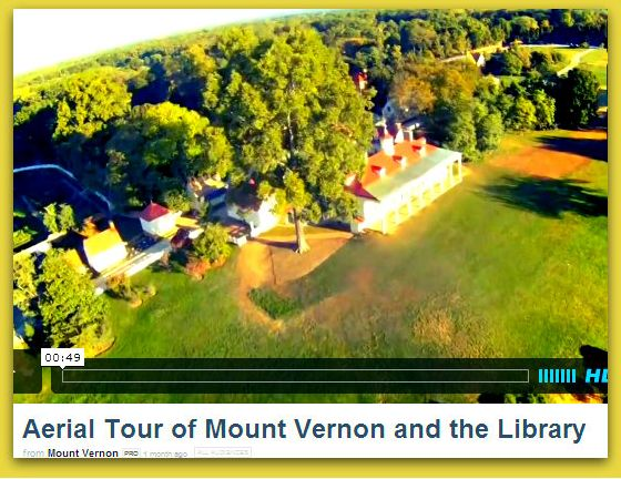 """A photo of Mount Vernon, George Washington's home in Virginia, and the new Fred W. Smith National Library for the Study of George Washington. Read more on the GenealogyBank blog: """"George Washington Library & Research Center Opening Sept. 2013."""""""