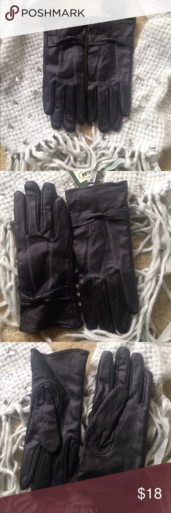 Extra small ladies leather gloves uk -  Black Leather Gloves Nwt