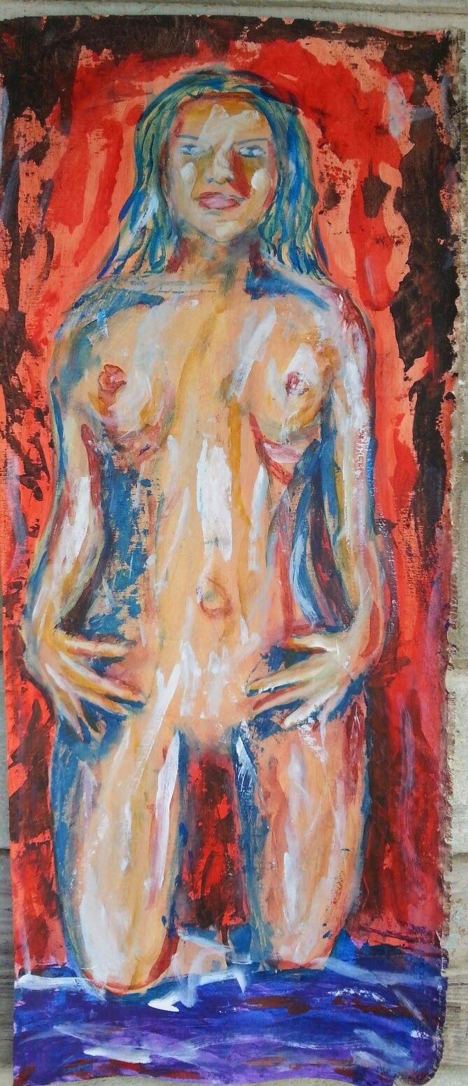Cuban art. art gallery from Cuba. nude girl.