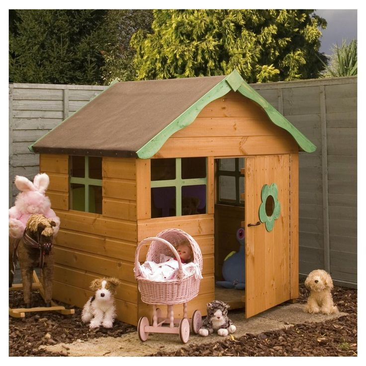 Snug Wooden Playhouse - What do you think?
