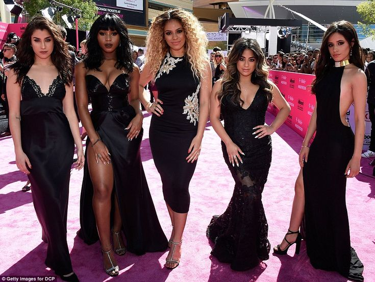 Beauties in black: The ladies of Fifth Harmony worked their glam looks...