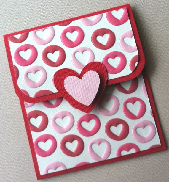 Gift Card Holder Valentine's Day Gift Card Holder by TerrysCards, $2.50: Holders Valentine'S, Cricut Cards, Cards Ideas, Birthday Cards, Gift Cards, Gifts Cards Holders, Valentine Day Gifts, Valentines Day Gifts, Gift Card Holders