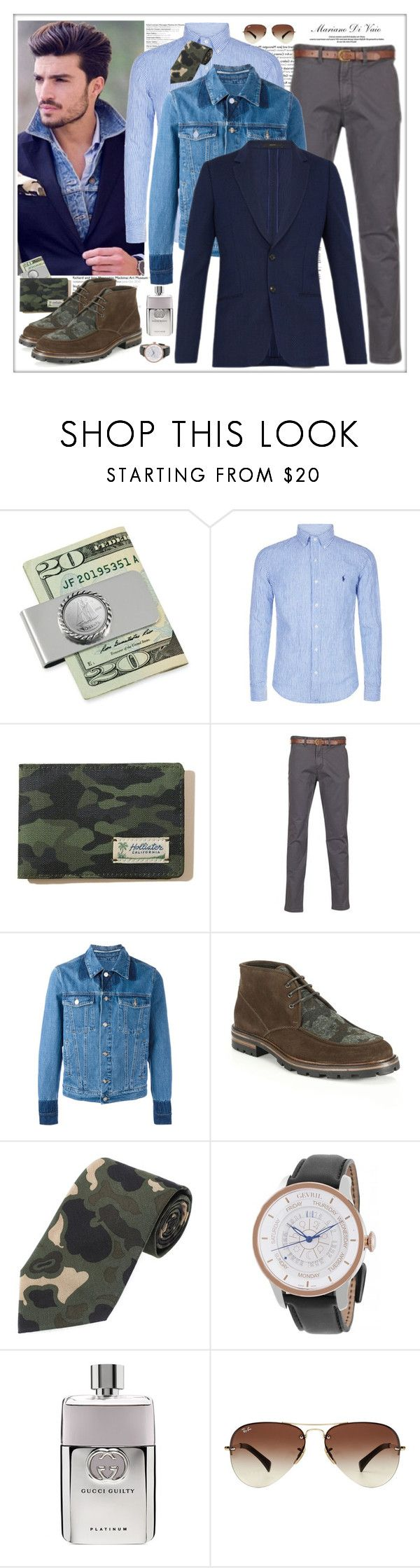 """""""Casual, Well Dressed you have to make ONE outfit as similar as you can to one of my ones that you can find on!"""" by vaniasb152 ❤ liked on Polyvore featuring Polo Ralph Lauren, Hollister Co., Kenzo, Aquatalia by Marvin K., Gevril, Gucci, Ray-Ban, Paul Smith, men's fashion and menswear"""