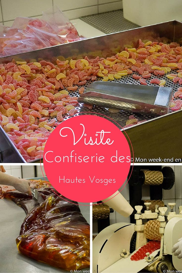 Visite de la Confiserie des Hautes Vosges, qui fabrique des bonbons artisanaux. Elle est située en Lorraine, juste de l'autre côté des Vosges par rapport à l'Alsace.