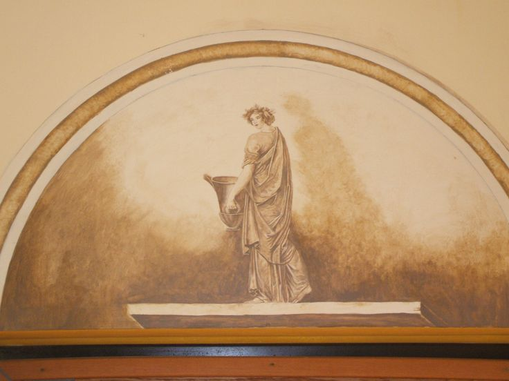 Ancient roman paintings inspired decoration