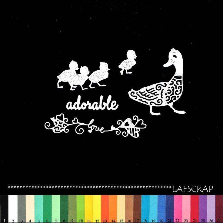 découpes scrapbooking canard bébé animal love amour coeur mot adorable scrapbooking embellissement album scrap die : Embellissements par lafscrap