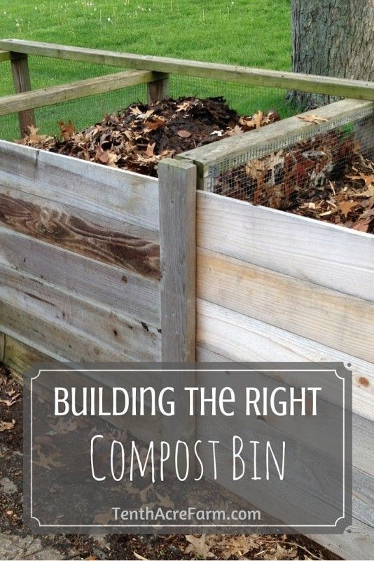 building the right compost bin