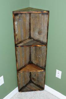 Wooden Corner Bookshelf Bookshelf Pinterest Shelves